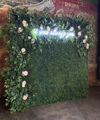 Enchanted Floral & Hedge Wall