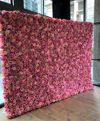 Flamingo Flower Wall