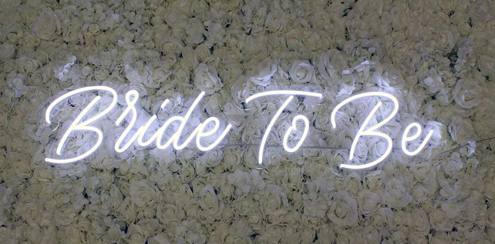 bride to be neon sign rental dallas
