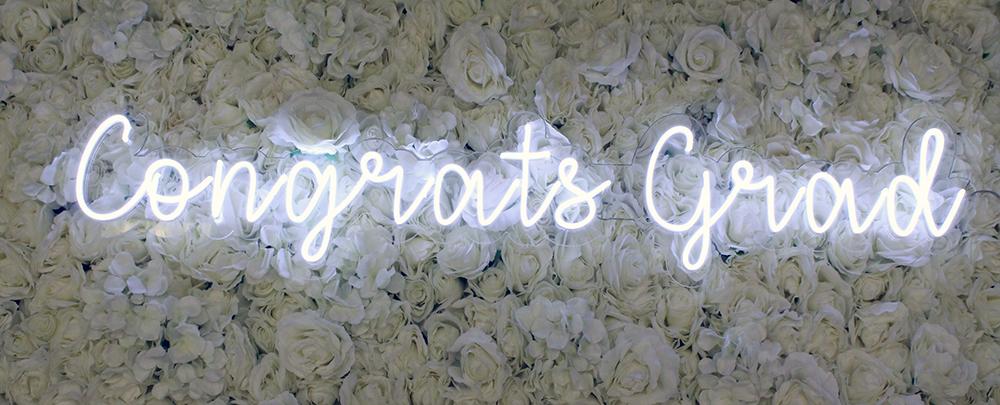 congrats neon sign rental dallas
