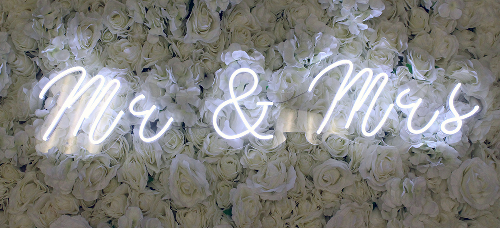 mr and mrs neon sign rental dallas