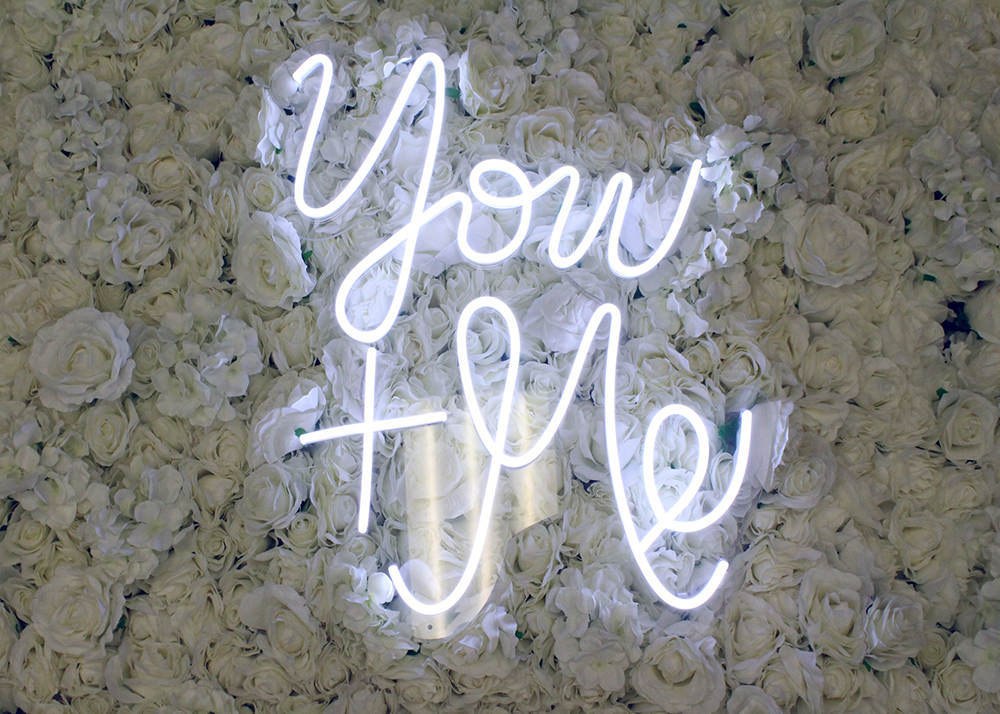you and me neon sign rental dallas